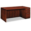 Hon Arrive Single Pedestal Veneer Desk, Right, Henna Cherry, 72w x 36d x 29-1/2h (HONVW076RC1Z9JJ)