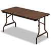 Iceberg Economy Wood Laminate Folding Table, Rectangular, 60w x 30d, Walnut (ICE55314)