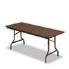 Iceberg Economy Wood Laminate Folding Table, Rectangular, 72w x 30d, Walnut (ICE55324)