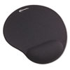 Innovera Mouse Pad w/Gel Wrist Pad, Nonskid Base, 10-3/8 x 8-7/8, Black (IVR50448)