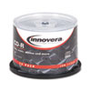 Innovera CD-R Discs, 700MB/80min, 52x, Spindle, Silver, 50/Pack (IVR77950)
