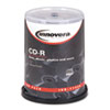Innovera CD-R Discs, 700MB/80min, 52x, Spindle, Silver, 100/Pack (IVR77990)