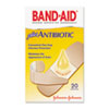 Band-Aid Antibiotic Adhesive Bandages, Assorted Sizes, 20/Box (JOJ5570)