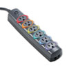 Kensington SmartSockets Color-Coded Strip Surge Protector, 6 Outlets, 6ft Crd (KMW62146)
