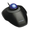 Kensington Orbit Trackball with Scroll Ring, Two Buttons, Black (KMW72337)