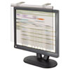 Kantek LCD Protect Acrylic Monitor Filter w/Privacy Screen, 19-20 Monitor, Silver (KTKLCD19SV)