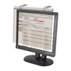 Kantek LCD Protect Acrylic Monitor Filter w/Privacy Screen, 20 LCD Screens, Silver (KTKLCD20WSV)