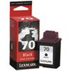 Lexmark 12A1970 (70) Ink, 600 Page-Yield, Black (LEX12A1970)