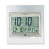 Howard Miller Radio Control TechTime II LCD Wall/Table Alarm Clock, Silver (MIL625236)