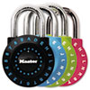 Master Lock Set-Your-Own Combination Lock, Steel, 1 7/8 Wide, Assorted (MLK1590D)