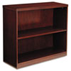 Mayline Luminary Series Veneer 2-Shelf Bookcase, 34¾w x 12d x 29h, Cherry (MLNBC3629C)