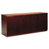 Mayline Luminary Series Wood Veneer Hinged Door Credenza, 72w x 20d x 29h, Cherry (MLNHDC2072C)