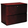 Mayline Luminary Series Wood Veneer 2-Drawer Lateral File, 34-3/4w x 20d x 29h, Cherry (MLNLF23620C)