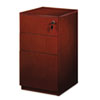 Mayline Luminary Series Wood Veneer Freestanding Box/Box/File Pedestal, Cherry (MLNPBBFT19C)