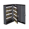 Steelmaster Security Key Cabinets, 90-Key, Steel, Charcoal Gray, 12 x 4 1/4 x 14 3/4 (MMF2017290G2)