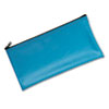 Mmf Industries Leatherette Zippered Wallet, Leather-Like Vinyl, 11w x 6h, Marine Blue (MMF2340416W38)