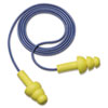 3M E-A-R UltraFit Earplugs, Corded, Premolded, Yellow, 100 Pairs/Box (MMM3404004)