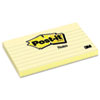 Post-It Notes Original Notes, 3 x 5, Lined, Canary Yellow, 12 100-Sheet Pads/Pack (MMM635YW)