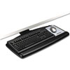 3M Positive Locking Keyboard Tray, Standard Platform, 21-3/4 Track, Black (MMMAKT70LE)