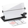 3M In-Line Adjustable Desktop Copyholder, Plastic, 150 Sheet Capacity, Black/Clear (MMMDH630)