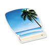 3M Gel Mouse Pad w/Wrist Rest, Nonskid Plastic Base, 6-3/4 x 9-1/8, Beach Design (MMMMW308BH)