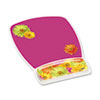 3M Gel Mouse Pad w/Wrist Rest, Nonskid Plastic Base, 6-3/4 x 9-1/8, Daisy Design (MMMMW308DS)