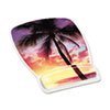 3M Gel Mouse Pad w/Wrist Rest, Nonskid Plastic Base, 6-3/4 x 9-1/8, Sunrise (MMMMW308SR)