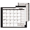 At-A-Glance Recycled Monthly Planner, Unruled, 3-1/2 x 6-1/8, Black-2014 (AAG7006405)