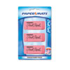 Paper Mate Pink Pearl Eraser, Large, 3/Pack (PAP70501)