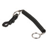 Securit Key Coil Chain 'N Clip Wearable Key Organizer,Flexible Coil, Black (PMC04992)