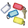 Securit Extra Color-Coded Key Tags for Key Tag Rack, 1 1/8 x 2 1/4, Assorted, 4/Pack (PMC04993)