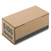 Pm Company Corrugated Cardboard Coin Storage w/Denomination Printed On Side, Blue (PMC61005)