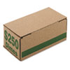 PM Company Corrugated Cardboard Coin StoraGE w/Denomination Printed On Side, Green (PMC61010)