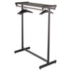 Quartet Double-Sided Garment Rack, Steel, Black Powder Coat (QRT20314)