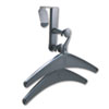 Quartet Over-The-Panel Hook with Steel Double-Garment Hanger, 1 3/4 x 6 7/8, Black (QRT20702)