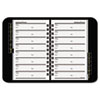 At-A-Glance Telephone/Address Book, 4-7/8 x 8, Black (AAG8001105)