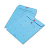 Quality Park Colored Paper String & Button Interoffice Envelope, 10 x 13, Blue,100/Box (QUA63577)