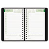 Brownline EcoLogix Recycled Daily Planner, 30-Minute Appts., Wirebound, 8 x 5, Black (REDCB410WBLK)