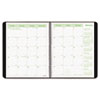 Brownline EcoLogix Recycled Monthly Planner, 11 x 8-1/2, Black Soft Cover (REDCB435WBLK)