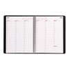 Brownline Essential Columnar Weekly Appointment Book, 8-1/2 x 11, Black (REDCB950BLK)