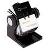 Rolodex Wood Tones Open Rotary Business Card File Holds 400 2 5/8 x 4 Cards, Black (ROL1734238)