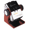 Rolodex Wood Tones Open Rotary Business Card File Holds 400 2 5/8 x 4 Cards, Mahogany (ROL1734242)
