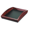 Rolodex Executive Woodline II Front Loading Single Letter Desk Tray, Wood, Mahogany (ROL19200)
