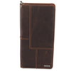 Rolodex Explorer Leather Business Card Book, 96-Card Capacity, 5 x 10 1/8, Brown (ROL22336)