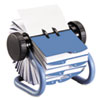 Rolodex Colored Open Rotary Business Card File with 24 Guides, Blue (ROL63299)