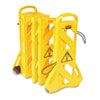 Rubbermaid Commercial Portable Mobile Safety Barrier, Plastic, 1 x 13 ft x 40, Yellow (RCP9S1100YEL)