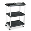 Rubbermaid Commercial MediaMaster 3-Shelf AV Cart, 18-5/8w x 32-1/2d x 42-3/8h, Black (RCP9T30)