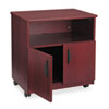 Safco Laminate Machine Stand w/Open Compartment, 28-1/8w x 19-3/4d x 30-1/2h, Mahogany (SAF1850MH)