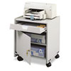 Safco Office Machine Mobile Floor Stand, 1-Shelf, 19w x 18-1/4d x 22-1/2h, Gray (SAF1854GR)
