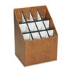Safco Corrugated Roll Files, 12 Compartments, 15w x 12d x 22h, Woodgrain (SAF3079)